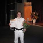 Cynthia Schellingerhout Shodan Jiu-Jitsu JBN Promotie 30-03-2015